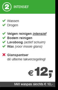 wasstraat tarief autoradam