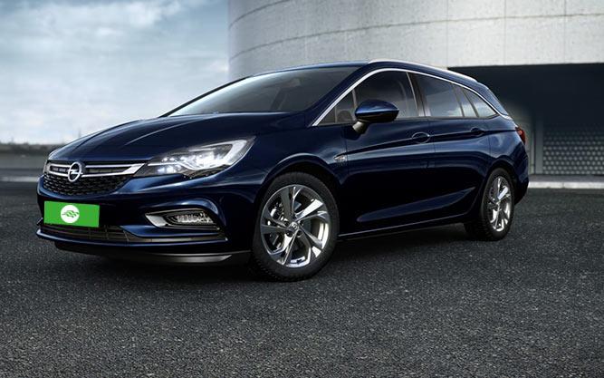 Donkerblauwe Opel Astra sports tourer