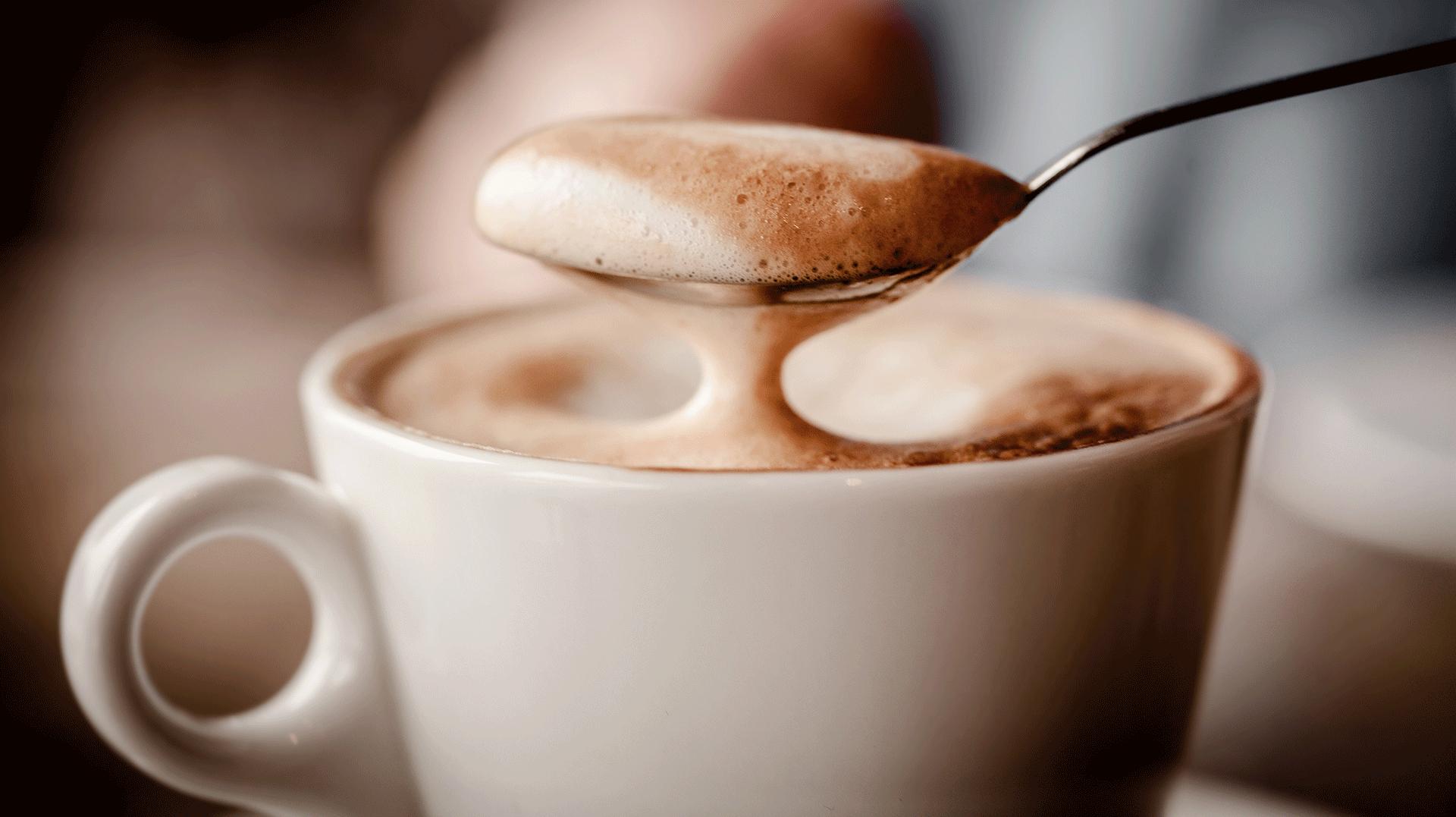 autoradam koffie cappucino